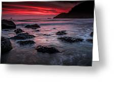 Oregon Afterglow Greeting Card