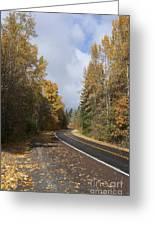 Oregon Autumn Highway Greeting Card