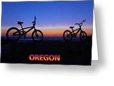 Oregon Bikes Greeting Card