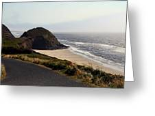 Oregon Coast And Fog Greeting Card