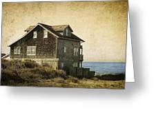 Oregon Coast Beach House Greeting Card