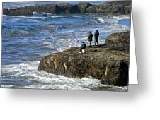 Oregon Coast Fishermen Greeting Card