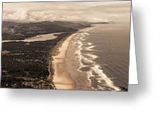 Oregon Coast From Above Greeting Card