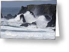 Oregon Coast Furrious Waves 1 Greeting Card