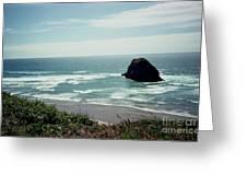 Oregon Coast Ghost Surfer Greeting Card