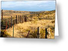 Oregon Corral Greeting Card