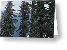 Oregon Crater Lake Panoramic Greeting Card