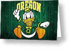 Oregon Ducks Barn Door Greeting Card