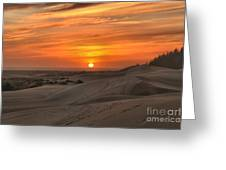 Oregon Dunes Sunset Greeting Card
