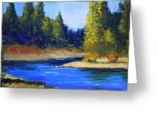 Oregon River Landscape Greeting Card