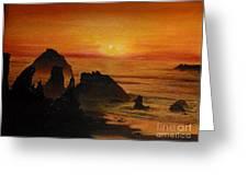 Oregon Sunset Greeting Card