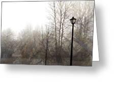 Oregon Winter Greeting Card by Carol Leigh