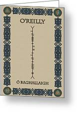 O'reilly Written In Ogham Greeting Card