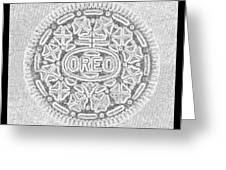 Oreo In Grey Greeting Card