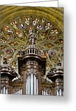 Organ And Window Greeting Card