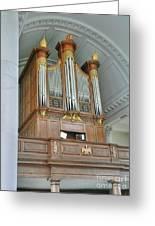 Organ At Westminster Greeting Card