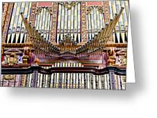 Organ In Cordoba Cathedral Greeting Card by Artur Bogacki