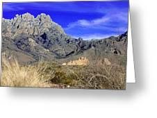 Organ Mountain Frosty Top Greeting Card