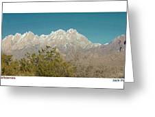 Organ Mountain Wilderness Greeting Card