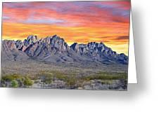 Organ Mountain Sunrise Most Viewed  Greeting Card