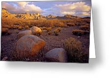 Organ Mountains Sunset Greeting Card