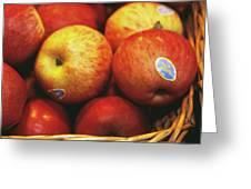 Organic Apples Greeting Card