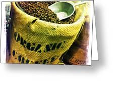 Organic Coffee Greeting Card