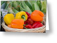 Organic Sweet Bell Peppers Greeting Card