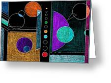 Organized Planets Greeting Card