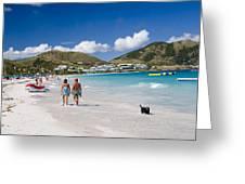 Orient Beach In St Martin Fwi Greeting Card