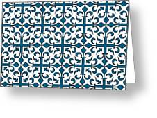 Orient Blue And White Interlude Greeting Card