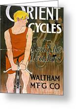 Orient Cycles Vintage Bicycle Poster Greeting Card