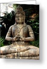 Oriental Statue Greeting Card