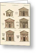 Origin And Development Of Architecture Greeting Card by Splendid Art Prints