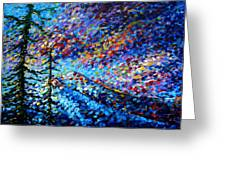 Original Abstract Impressionist Landscape Contemporary Art By Madart Mountain Glory Greeting Card