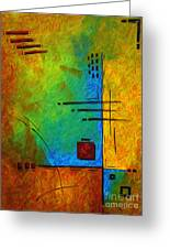 Original Abstract Painting Digital Conversion For Textured Effect Resonating IIi By Madart Greeting Card