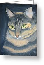 Original Cat Painting Greeting Card