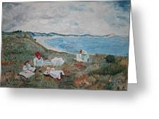 Original Copy By Karen Gilmore Of William Merrit Chase's Idle Hours Greeting Card
