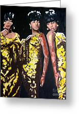 Original Divas The Supremes Greeting Card by Ronald Young