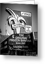 Original Frozen Banana Sign On Balboa Island Picture Greeting Card