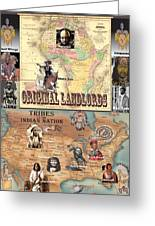 Original Landlords Poster African And Native American Greeting Card