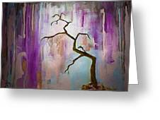 Original Painting Expressionist Contemporary Tree Art Greeting Card