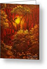 Fairytale Forest- Original Sold - Buy Giclee Print Nr 27 Of Limited Edition Of 40 Prints  Greeting Card
