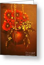Hanging Flower Pot-original Sold-buy Giclee Print Nr 24 Of Limited Edition Of 40 Prints   Greeting Card