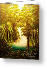 Hidden Falls-original Sold-- Buy Giclee Print Nr 27 Of Limited Edition Of 40 Prints  Greeting Card