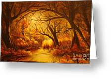 Hot Forest- Original Sold- Buy Giclee Print Nr 29 Of Limited Edition Of 40 Prints  Greeting Card