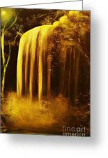 Moon Shadow Waterfalls- Original Sold - Buy Giclee Print Nr 30 Of Limited Edition Of 40 Prints    Greeting Card