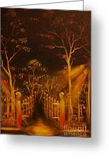 Parks Gate-original Sold- Buy Giclee Print Nr 29 Of Limited Edition Of 40 Prints  Greeting Card
