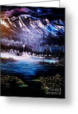 Winter Grace-original Sold-buy Giclee Print Nr 32 Of Limited Edition Of 40 Prints  Greeting Card