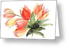 Original Tulips Flowers Greeting Card